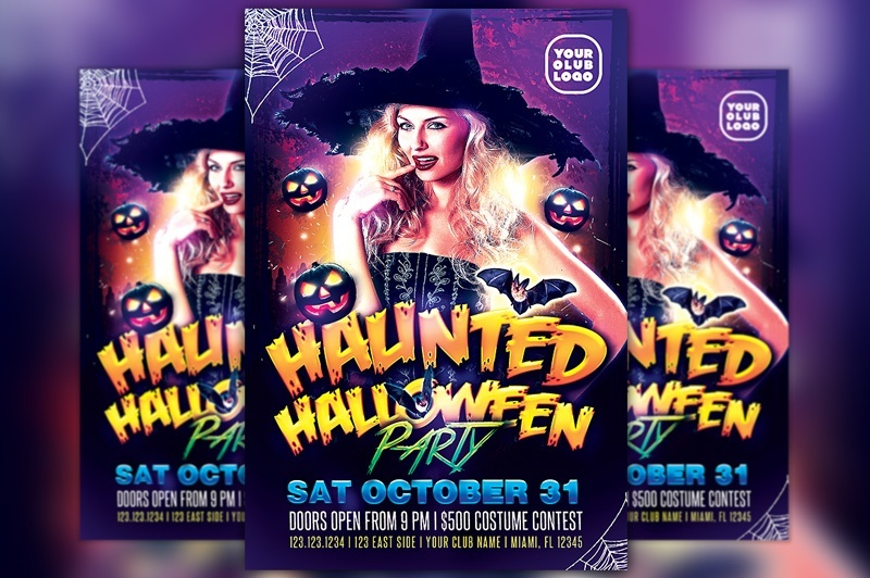 Halloween Costume Party Flyer Template - Halloween costume party flyer