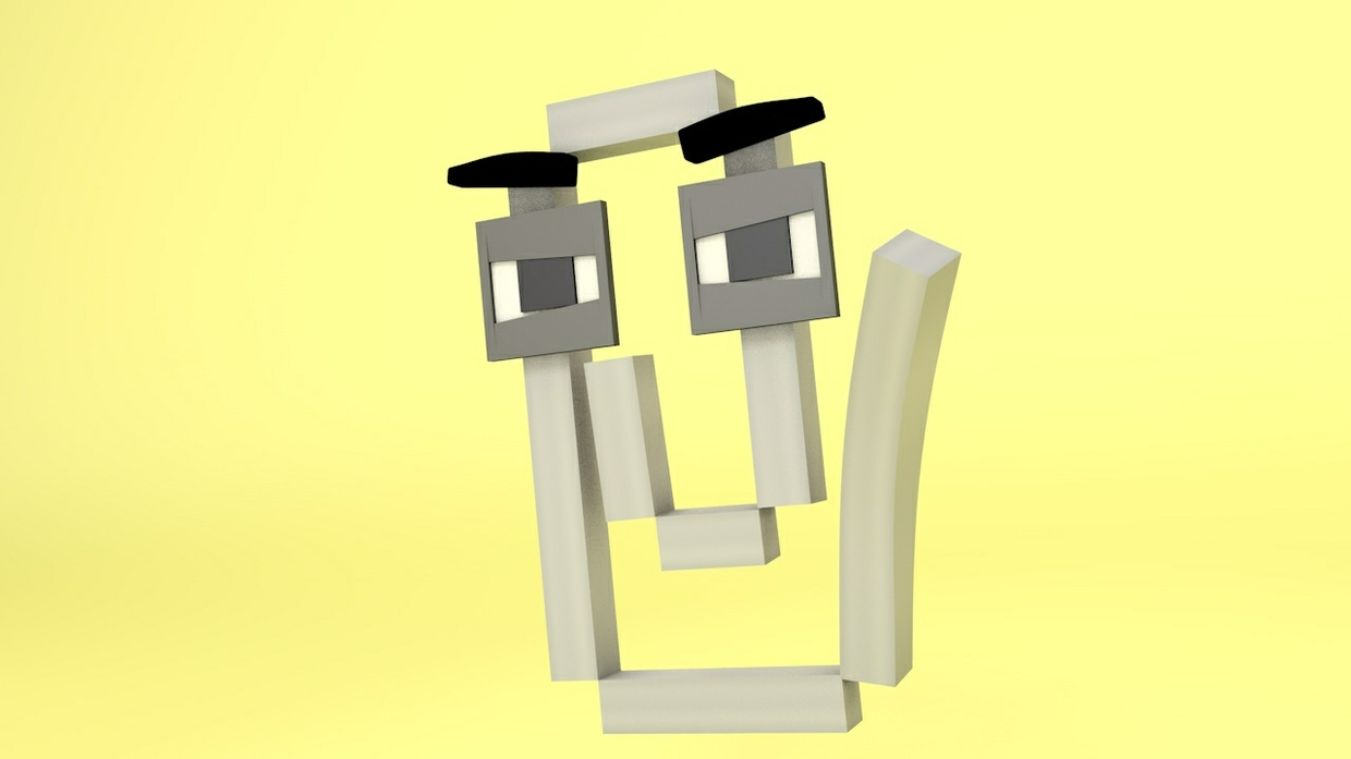 Minecraft Clppy Cinema4D