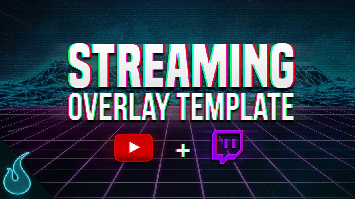 CLEAN Streaming overlay Template for Youtube/Twitch 1080p