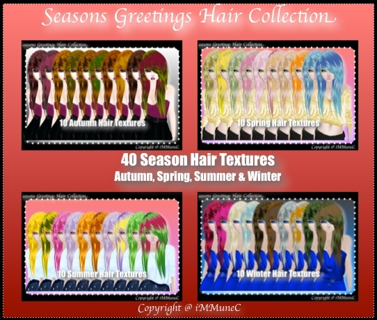 40 Seasons Hair Textures With Resell Rights (SG)