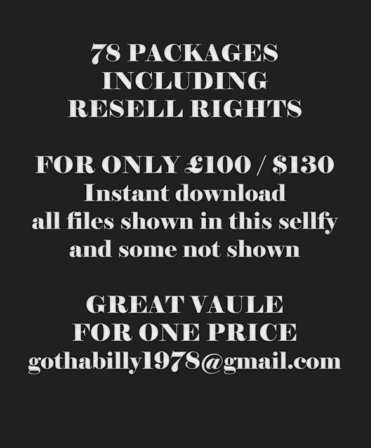 x77 PACKAGES - INCLUDING RESELLS RIGHTS UPDATED