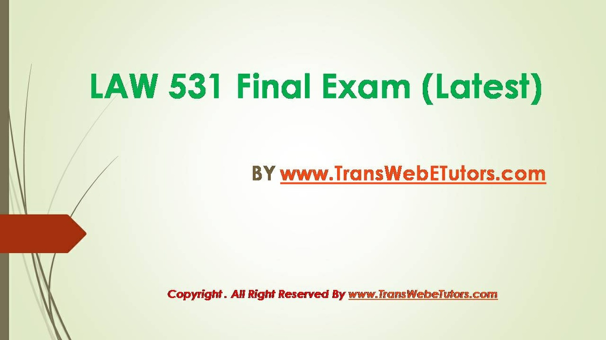 business final exam