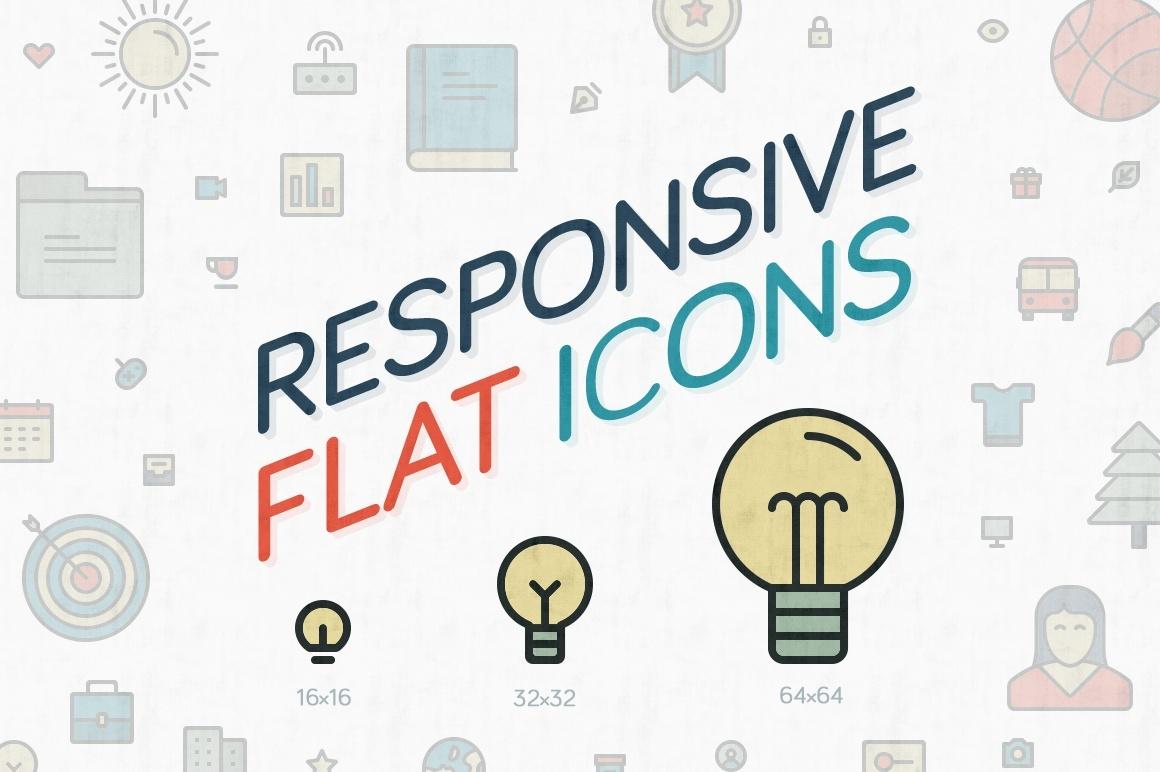 Responsive Flat Icons
