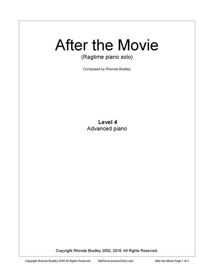 After the Movie Piano Solo Level 4