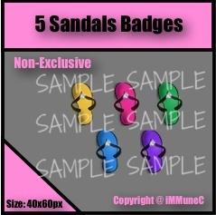 5 Sandals Badges