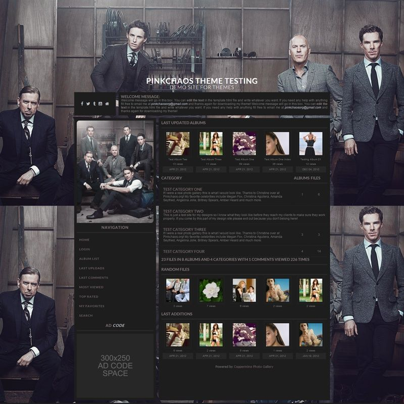 Squared Dark Coppermine Theme