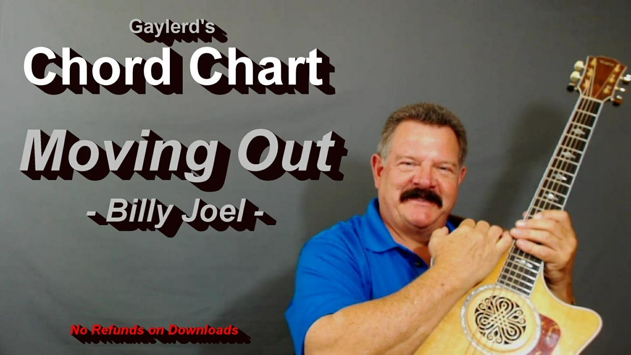 Moving Out  by Billy Joel  - CHORD CHART