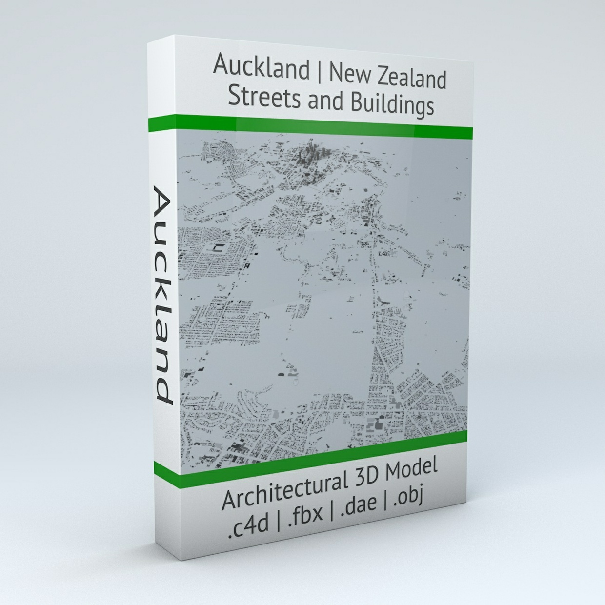Auckland Streets and Buildings Architectural 3D Model