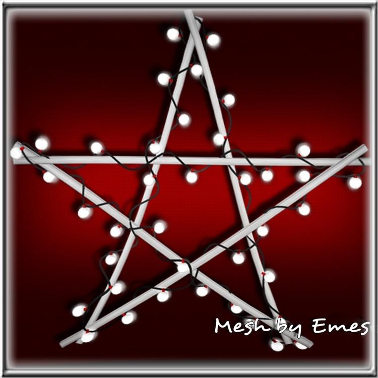 MESH-Christmas Star Lights