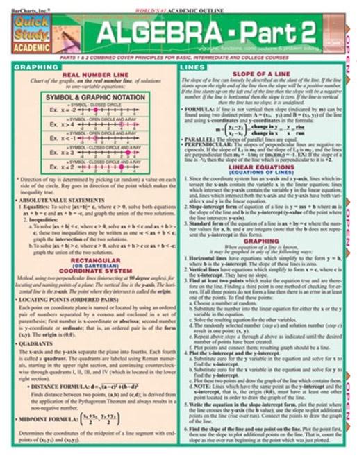 Algebra Quick Review Study Guide - Part 2