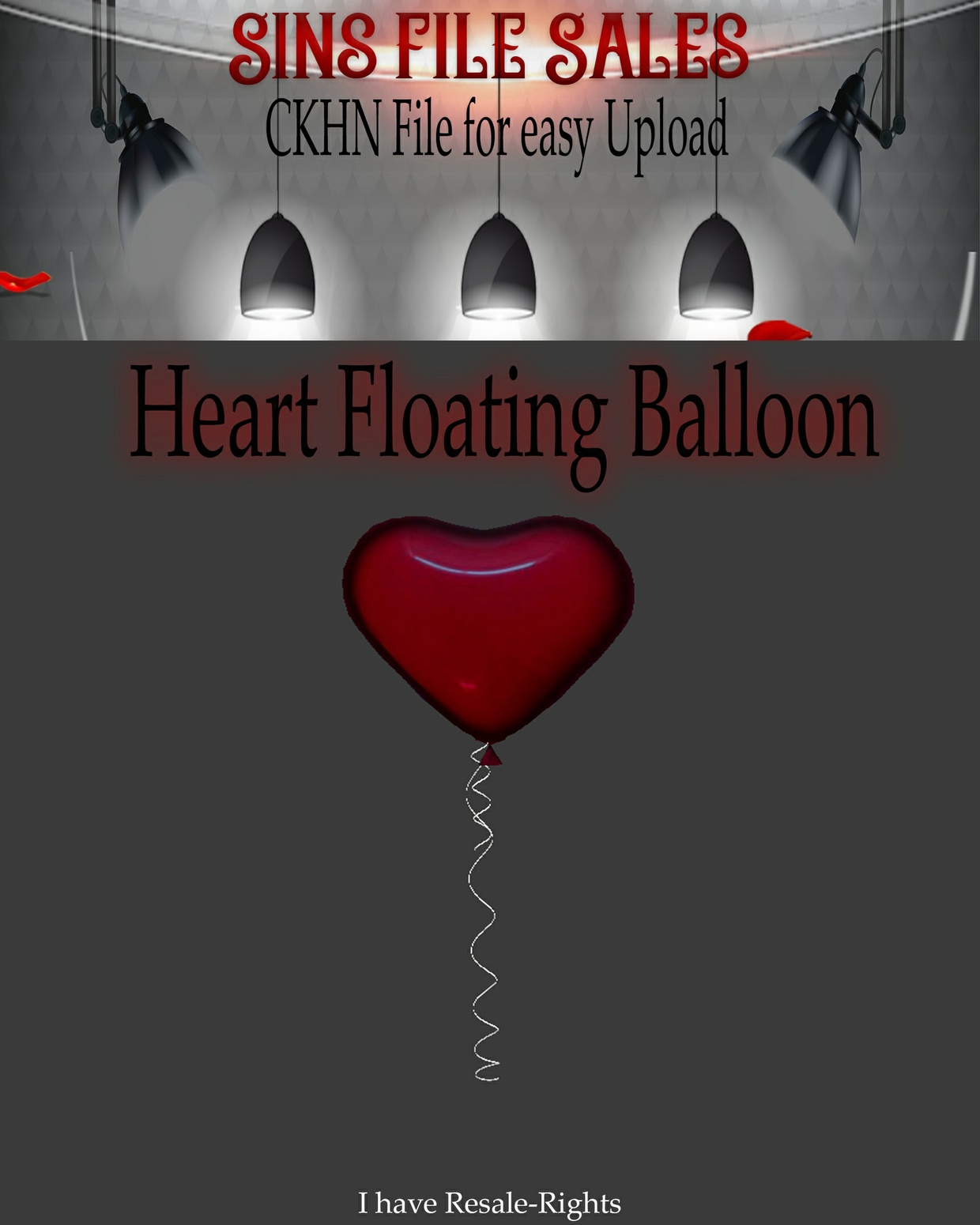 ♥Heart Floating Balloon Mesh *CKHN File