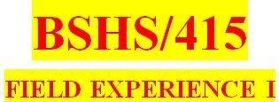 Tag: BSHS 322 WEEK 4