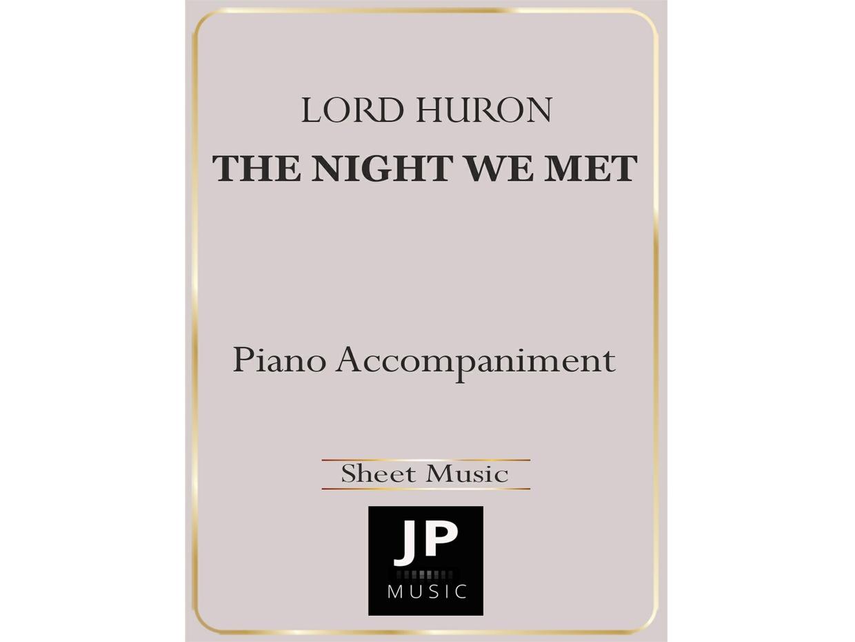 The Night We Met - Piano Accompaniment