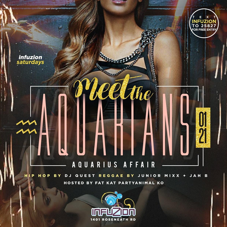 Meet The Aquarians - Aquarius Club Flyer