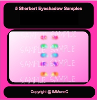 5 Sherbert Eyeshadows Instant Makeup With Resell Rights