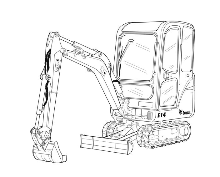 Bobcat E14 Compact Excavator Service Repair Manual Download(S/N AHNM11001 & Above)