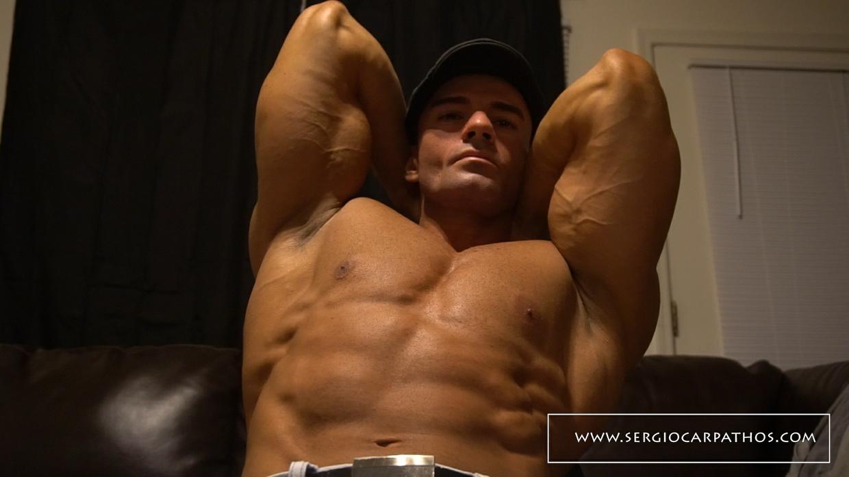 Sergio Flexing In Living Room