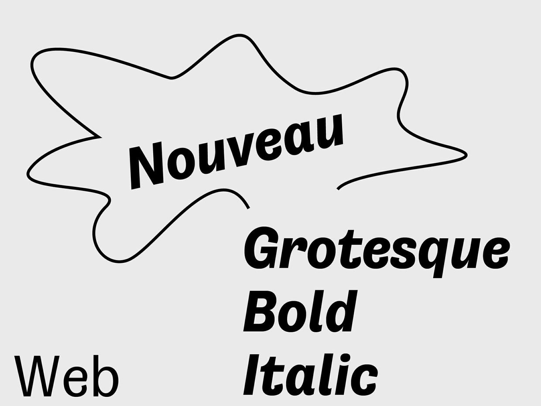 Nouveau Grotesque Bold Italic Web 10.000 Pageviews