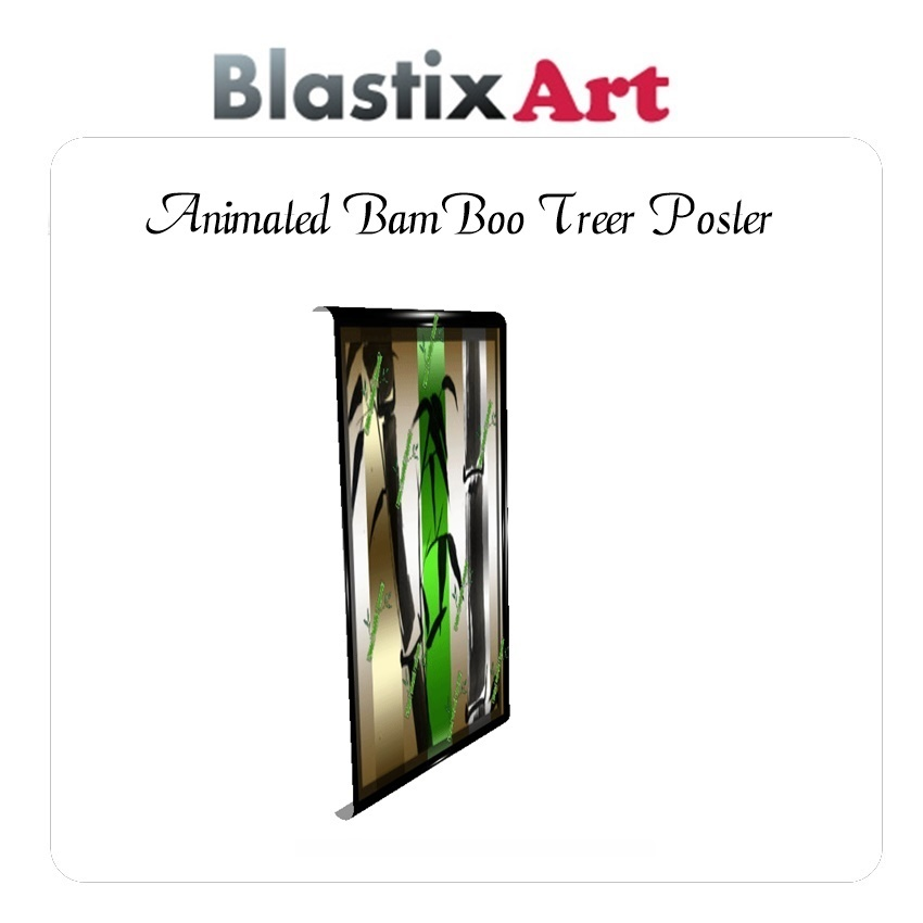 Animated Bamboo Tree Posters