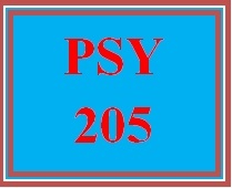 PSY 205 Entire Course