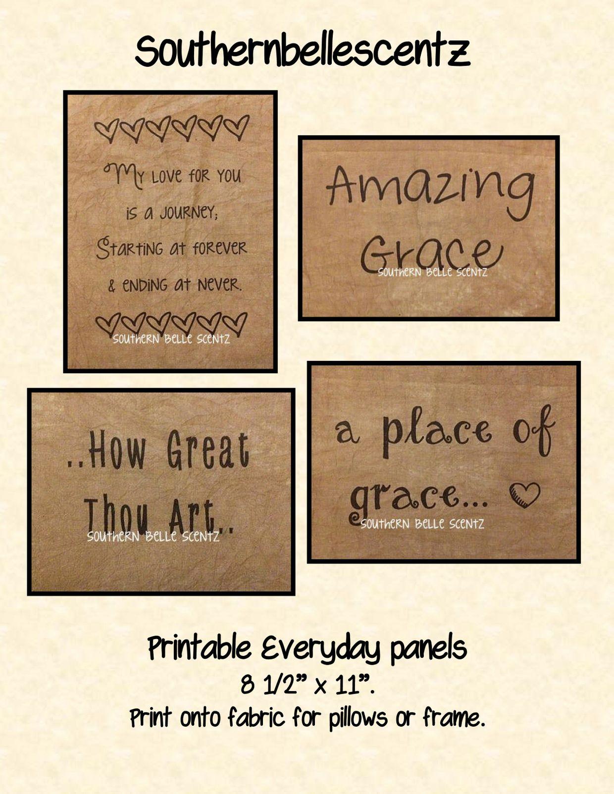 Everyday Printable Feedsack Panels E Pattern