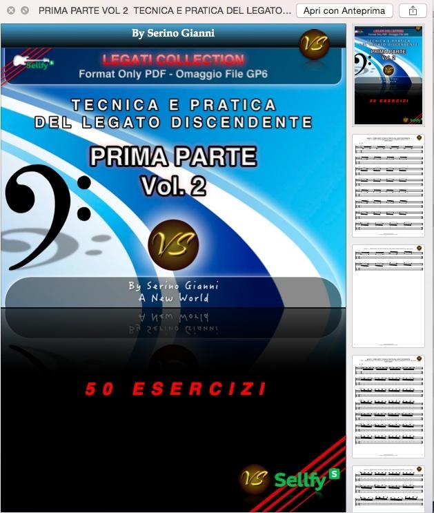 """(PRIMA PARTE) VOL 2 TECNICA E PRATICA DEL LEGATO """"SOLO"""" DISCENDENTE - FORMAT PDF. """"OMAGGIO FILE GP6"""""""