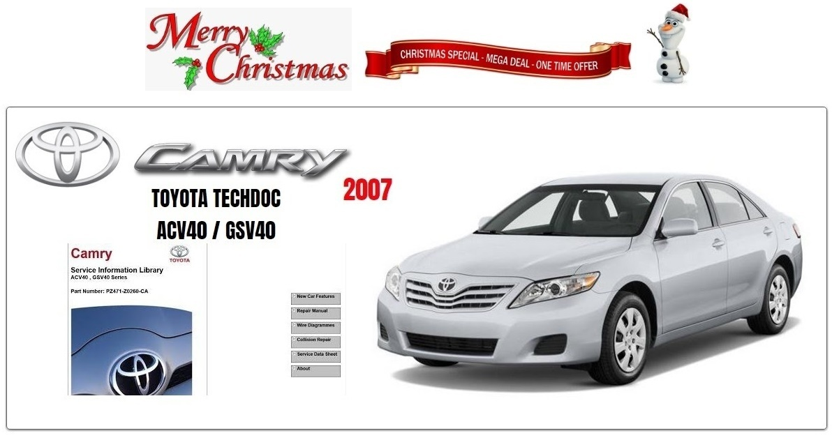 toyota camry 2007 gsic workshop manual workshop repair manuals. Black Bedroom Furniture Sets. Home Design Ideas