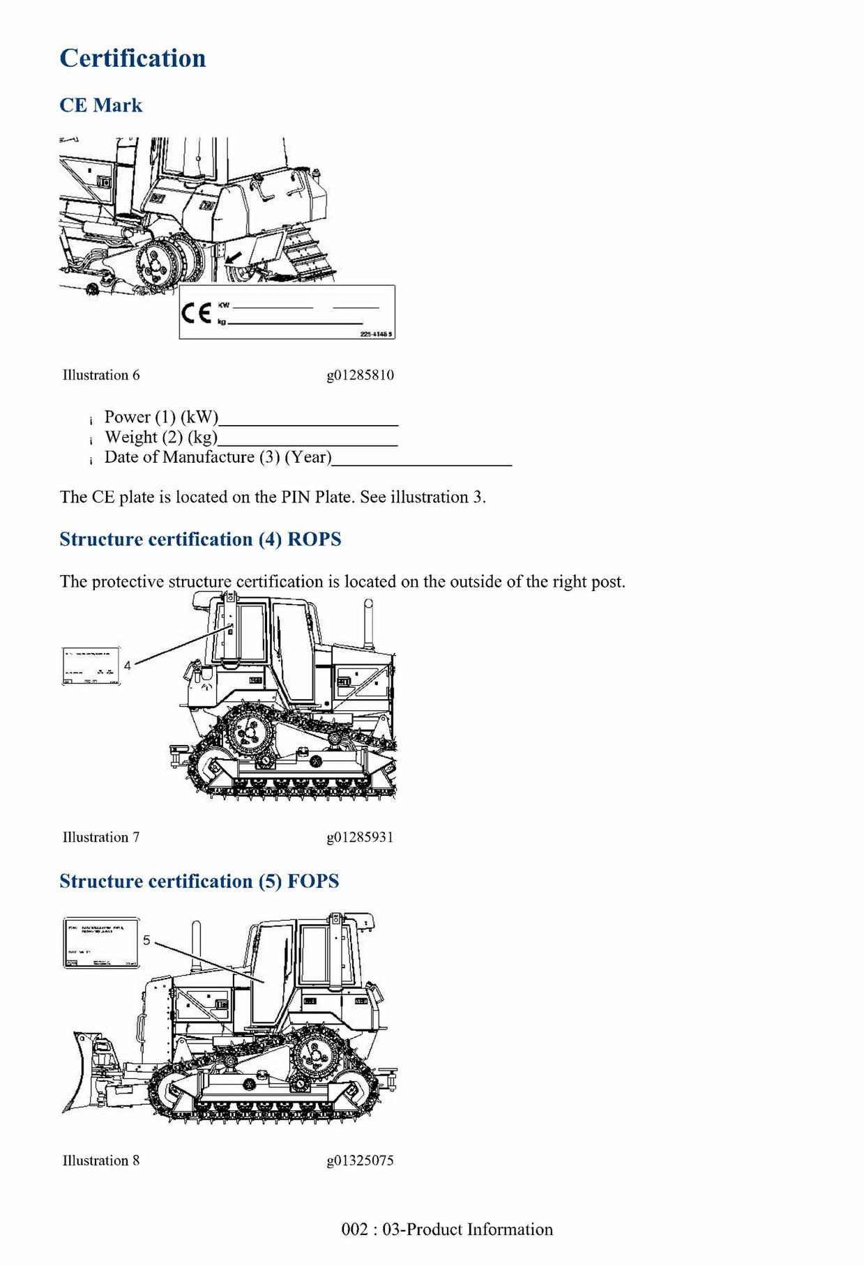 Cat Caterpillar D6N Track-Type Tractor - Operation & Maintenance Manual
