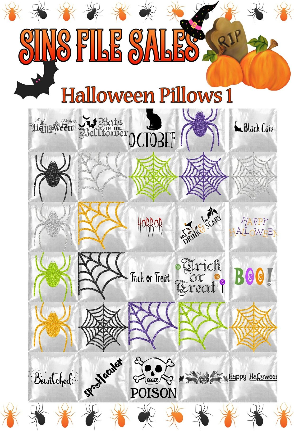 Halloween Pillows 1 *30 png*
