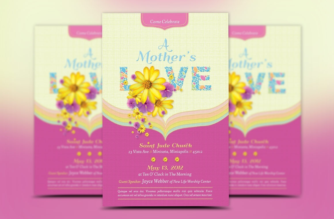Mothers Love Church Flyer Template