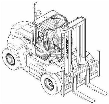Hyster Diesel Forklift Truck E019 Series: H300HD, H330HD, H360HD, H360HD-EC Spare Parts List
