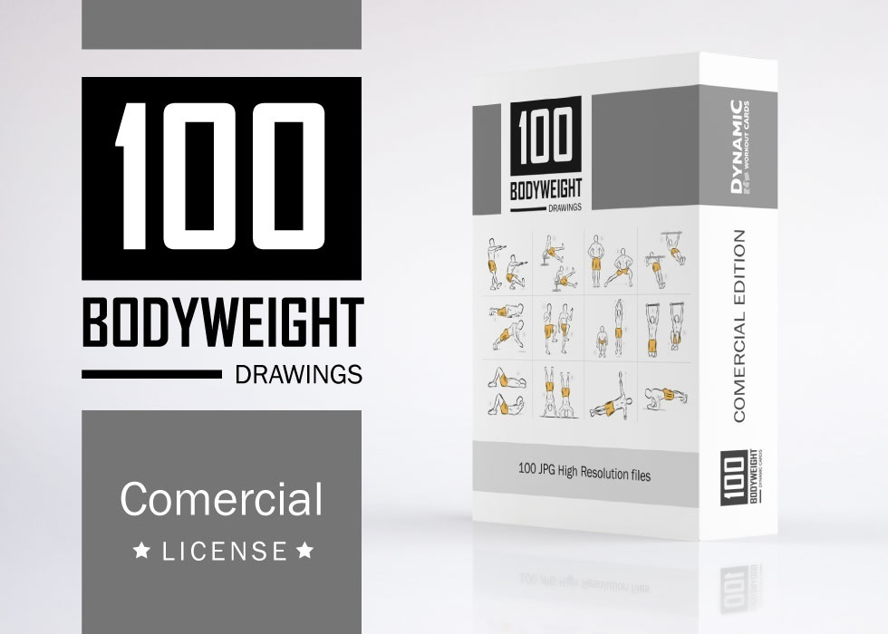 100 Bodyweight DRAWINGS - JPG High Resolution / Comercial License