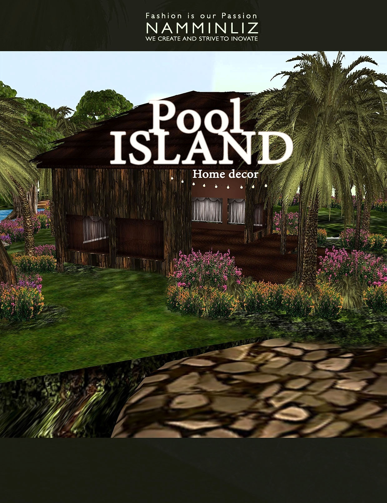 Pool island home decor imvu 45 Textures PNG & 8 *.CHNK