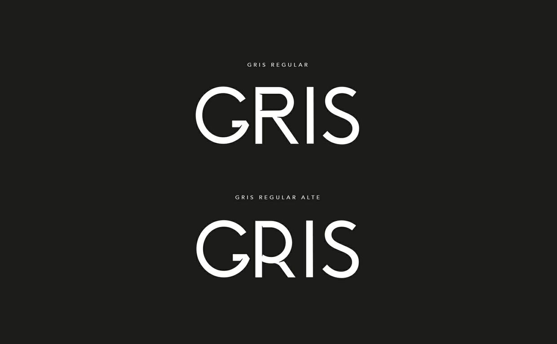Gris typeface