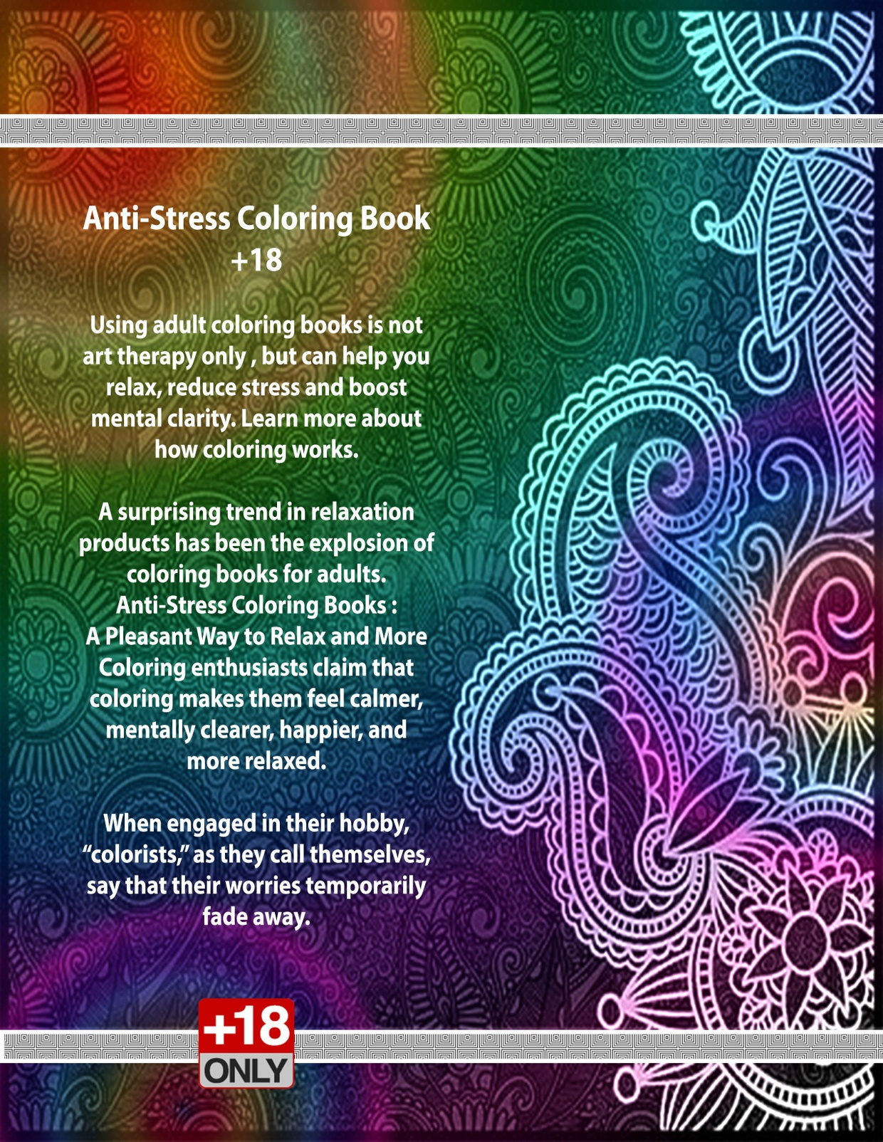 Stress coloring books -  Anti Stress Coloring Book 18