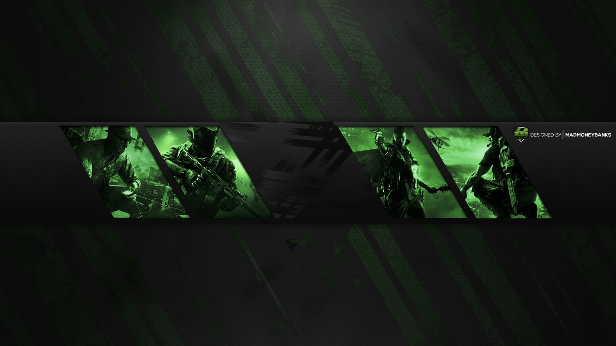 pro youtube gaming channel banner template panels