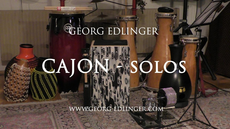 11 Cajon Solos - Solo 10 - Etüde