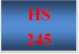 HS 245 Week 4 Health Assessment- Depression