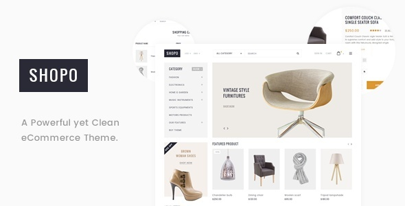 Shopo - Simple & Clean eCommerce Template