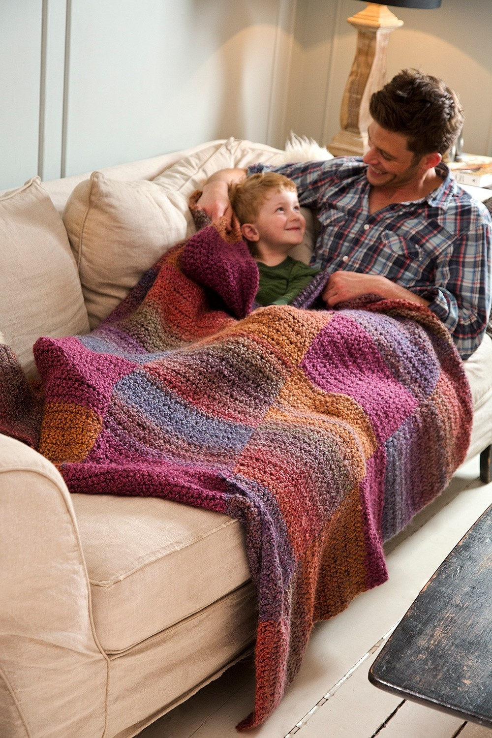 Soft Shaded Colors Afghan