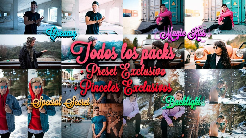 Todos los PACKS + Preset EXCLUSIVO + 2 Pinceles EXCLUSIVOS + Tutorial | @donrubenblanco