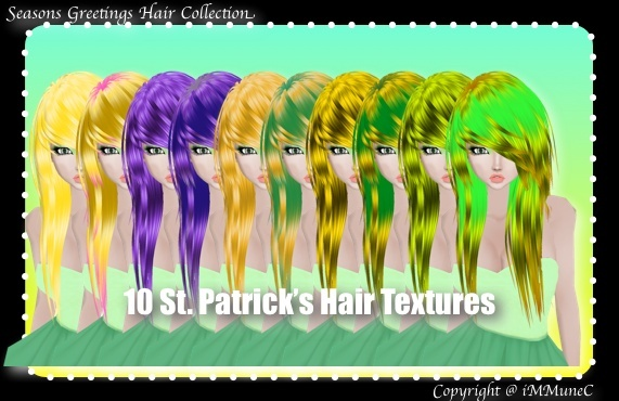10 St. Patrick's Hair Textures (SG)