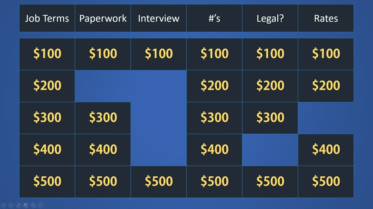 jeopardy powerpoint template (basic), Modern powerpoint