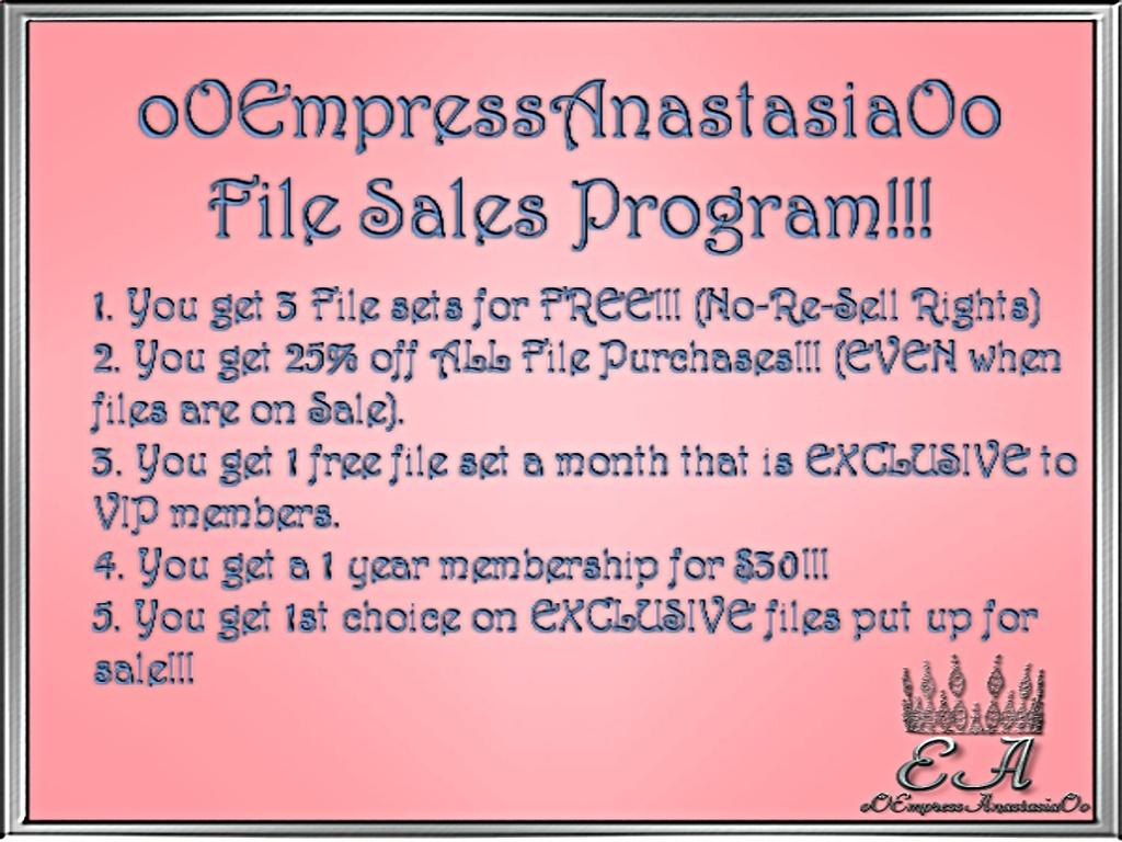 Empress Anastasia's VIP Membership!!!