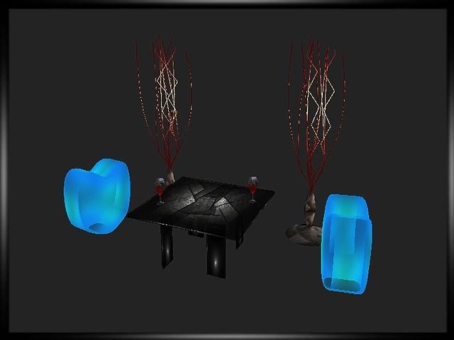 Hearts Seats Table