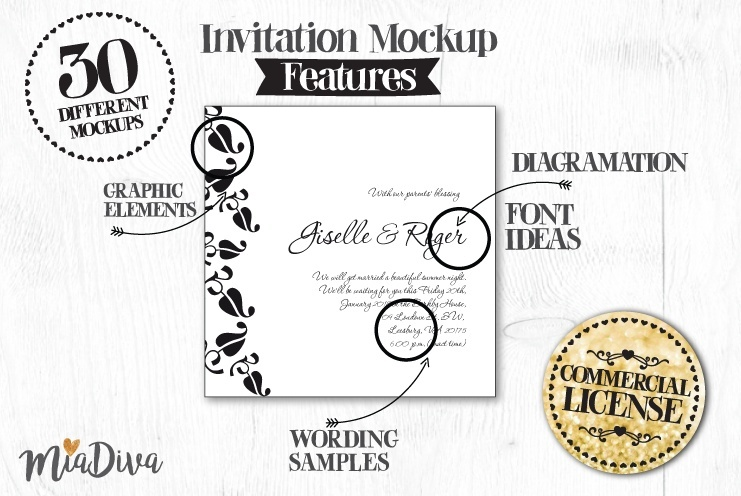 Miadiva wedding invitations layouts pack