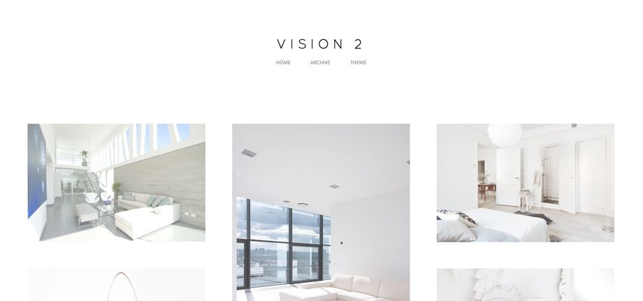 Vision 2 - Super minimal Tumblr theme