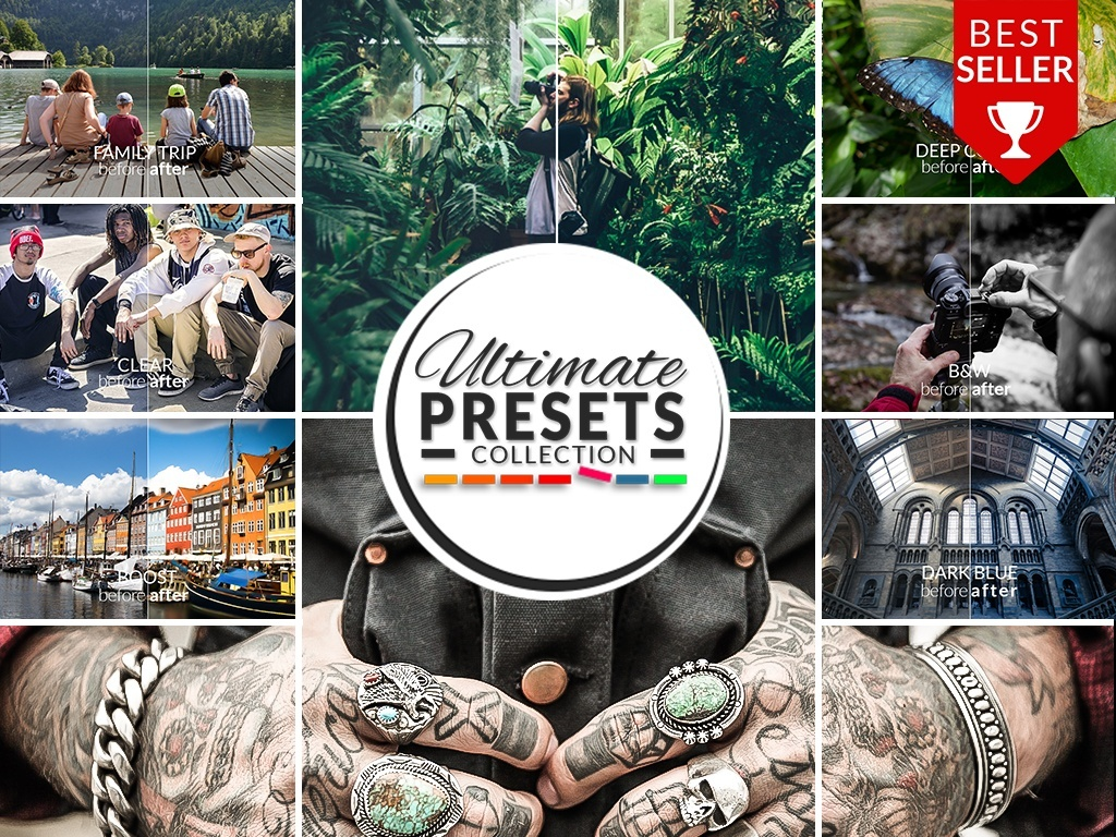 ULITMATE PRESETS (PHOTOSHOP) COLLECTION 2018!