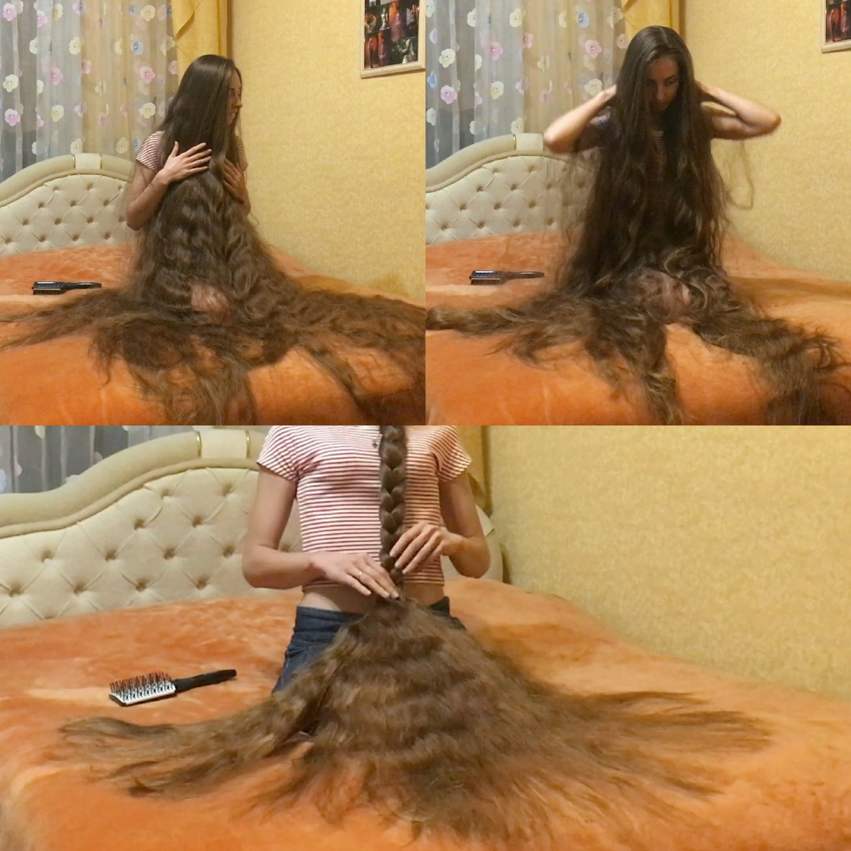 VIDEO - The long hair princess´ bed