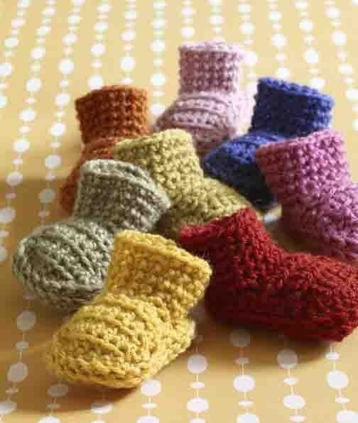 Crochet Easy Booties